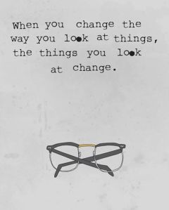 Picture quote about when you change all change